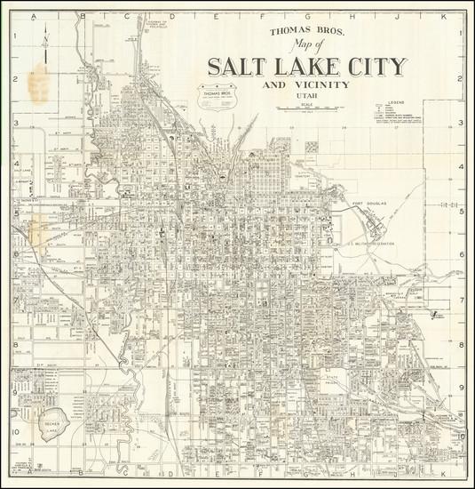 57-Utah and Utah Map By Thomas Brothers