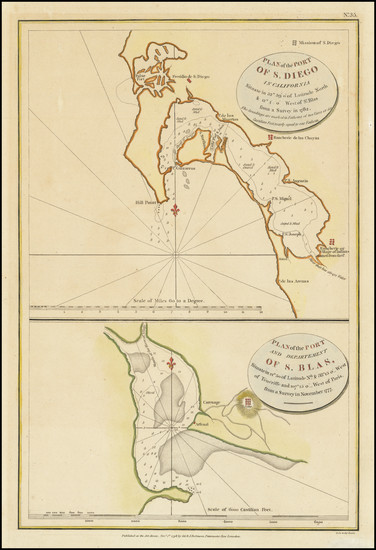 6-San Diego Map By Jean Francois Galaup de La Perouse