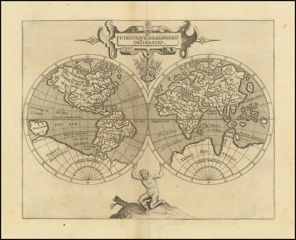 57-World and World Map By Cornelis van Wytfliet