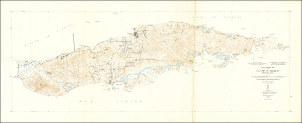 30-Puerto Rico Map By U.S. Geological Survey