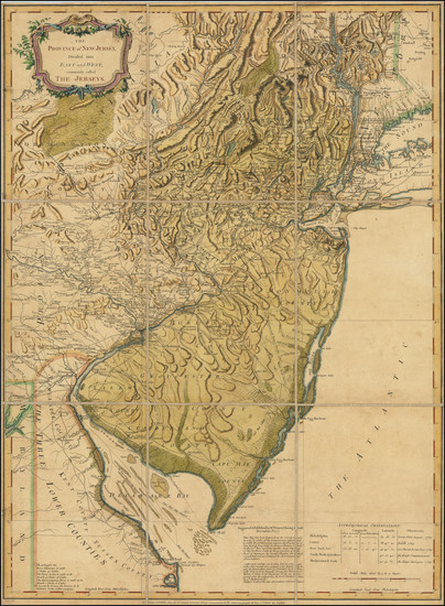 70-New Jersey and American Revolution Map By Francoise Perrier  &  Ambrose Verrier