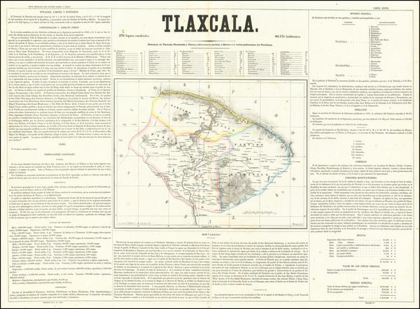 38-Mexico Map By Antonio Garcia y Cubas