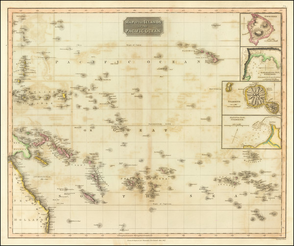 88-Pacific, Oceania, Hawaii and Other Pacific Islands Map By John Thomson