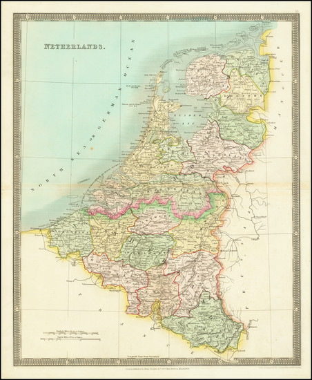 60-Netherlands Map By Henry Teesdale