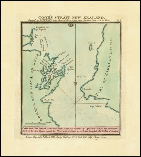 74-New Zealand Map By John Luffman
