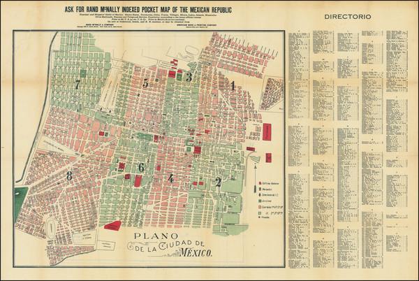 79-Mexico Map By American Book & Printing Company / Rand McNally & Company