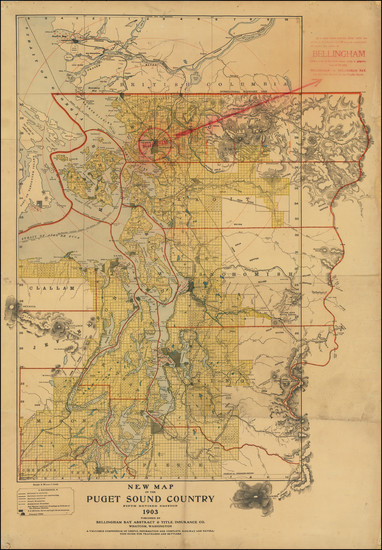 74-Washington Map By Bellingham Bay Abstract & Title Insurance Company.