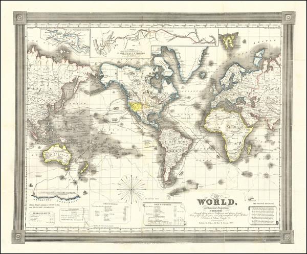 32-World Map By David Hugh Burr