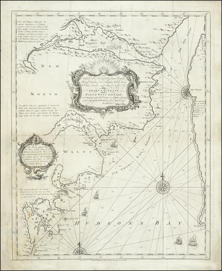 16-Polar Maps, Canada, Eastern Canada and Western Canada Map By Henry Ellis