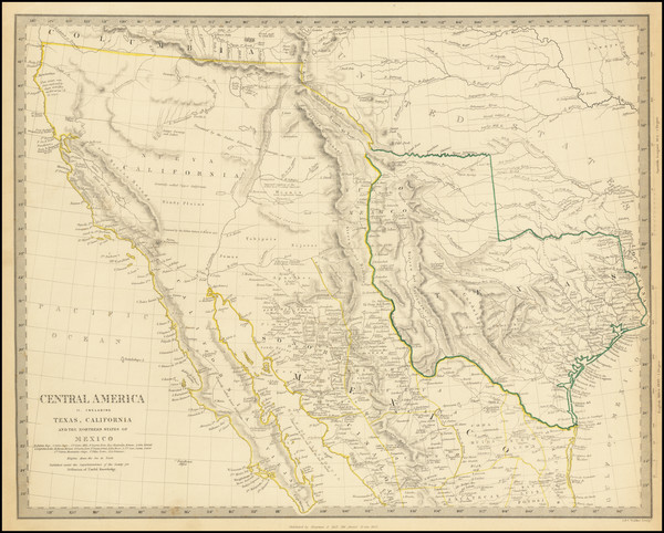 66-Texas, Southwest, Rocky Mountains and California Map By SDUK