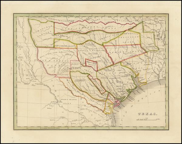 38-Texas Map By Thomas Gamaliel Bradford