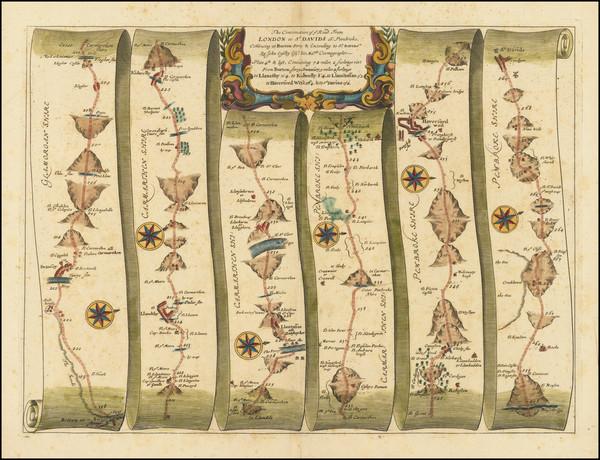 69-British Isles, British Counties and Wales Map By John Ogilby