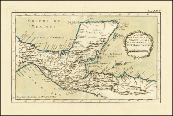 28-Mexico and Central America Map By Jacques Nicolas Bellin