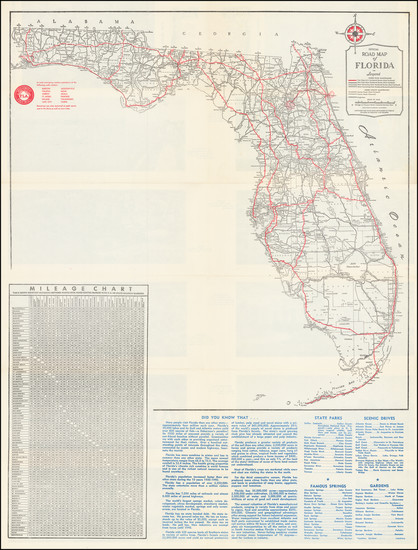 98-Florida Map By Florida State Road Department