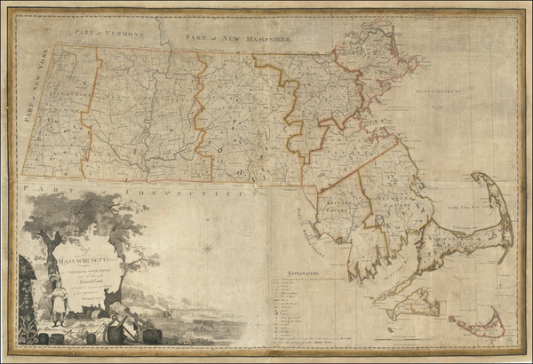 25-Massachusetts Map By Osgood Carleton