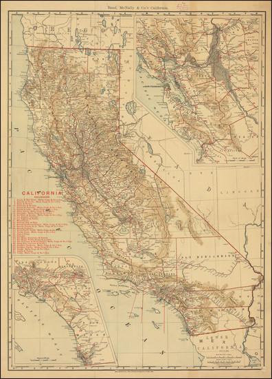 58-California Map By Rand McNally & Company