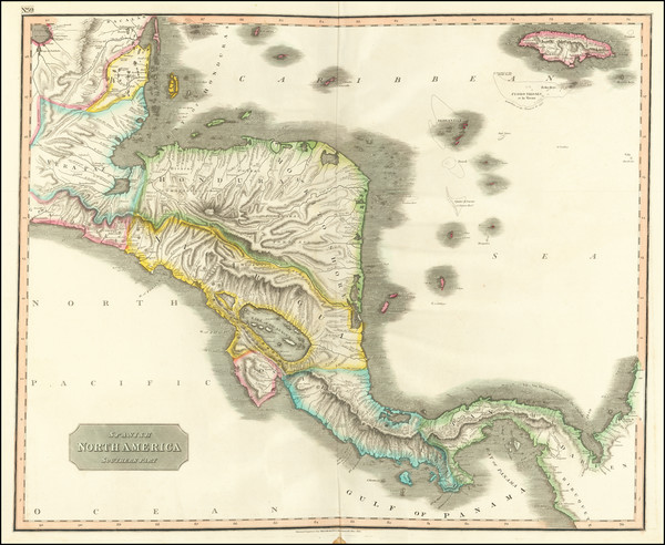 38-Central America Map By John Thomson