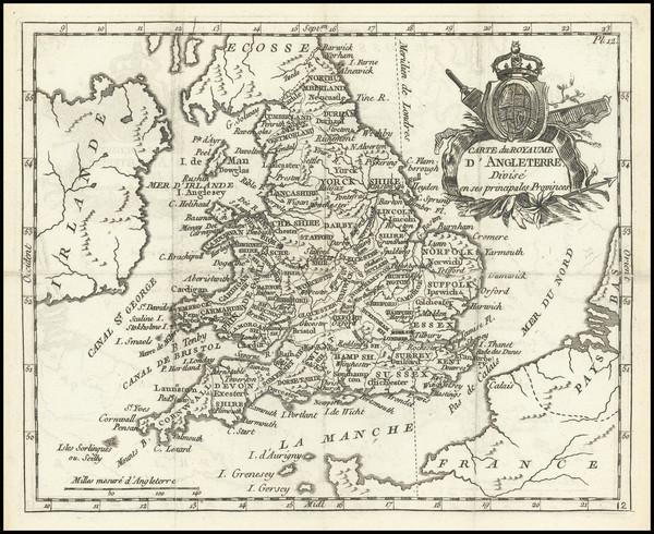 74-England Map By Joseph De La Porte