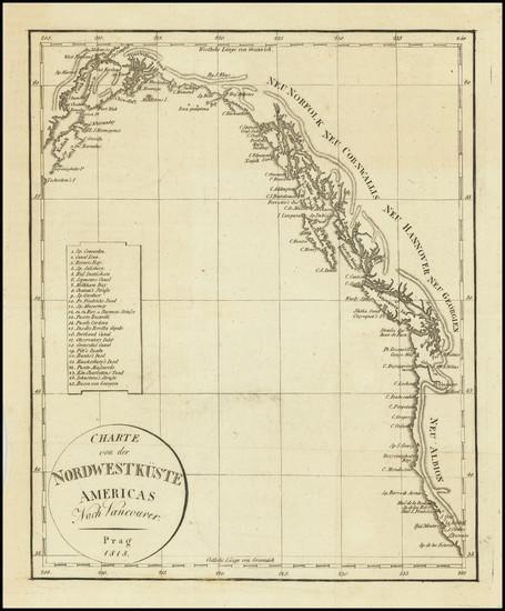 12-Oregon, Washington, Alaska, California and British Columbia Map By Franz Pluth