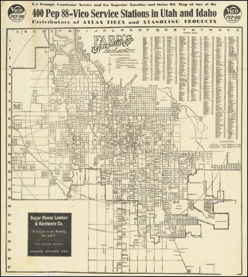 85-Utah and Utah Map By W.E. Farr