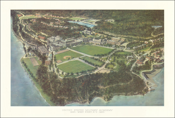 96-New York State Map By United States Military Academy