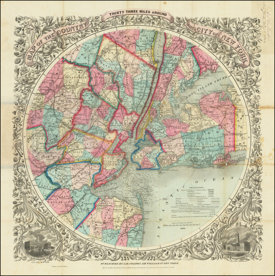 68-New York City Map By G.W.  & C.B. Colton