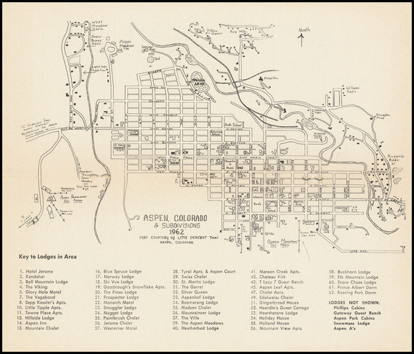 41-Colorado, Colorado and Pictorial Maps Map By Aspen Chamber of Commerce