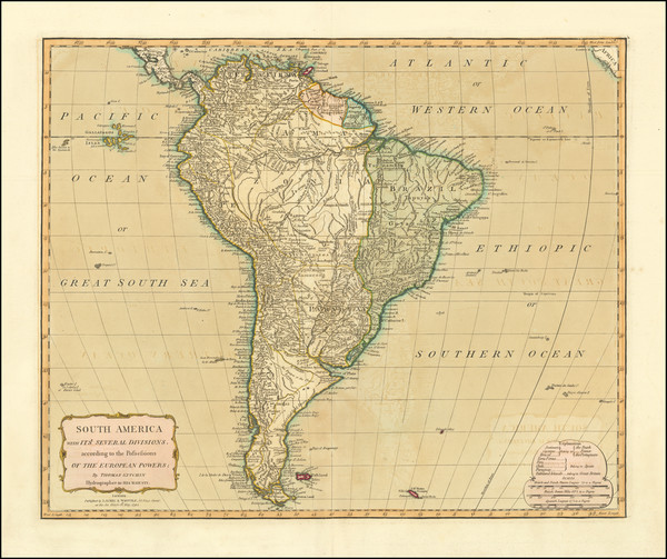 74-South America Map By Laurie & Whittle