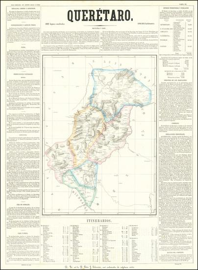 2-Mexico Map By Antonio Garcia y Cubas
