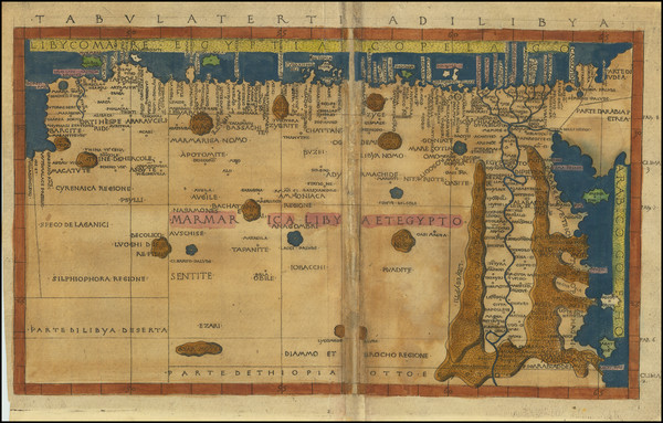 93-Egypt and North Africa Map By Francesco Berlinghieri