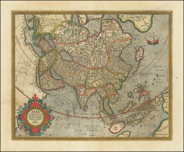 11-Asia Map By  Gerard Mercator