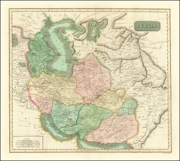 23-Central Asia & Caucasus, Middle East and Persia Map By John Thomson