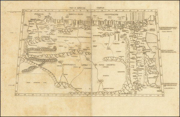 17-Africa, Egypt and North Africa Map By Claudius Ptolemy / Conrad  Swenheym