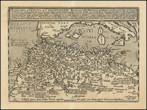 94-Mediterranean and North Africa Map By Matthias Quad / Johann Bussemachaer