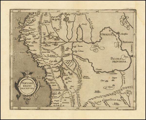 62-Peru & Ecuador Map By Cornelis van Wytfliet