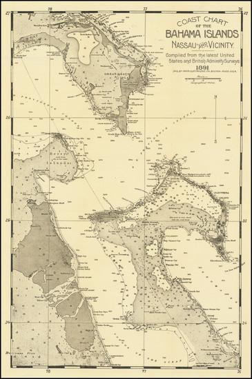 20-Bahamas Map By James H. Stark