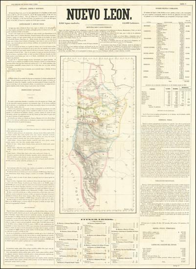 9-Mexico Map By Antonio Garcia y Cubas
