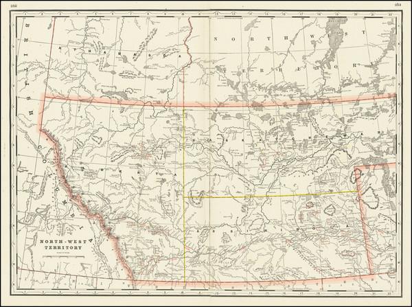66-Western Canada Map By George F. Cram