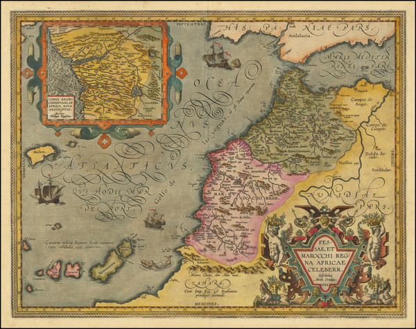5-North Africa and West Africa Map By Abraham Ortelius