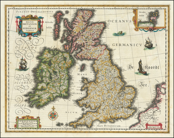 49-British Isles Map By Willem Janszoon Blaeu