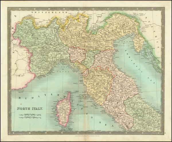 82-Northern Italy Map By Henry Teesdale