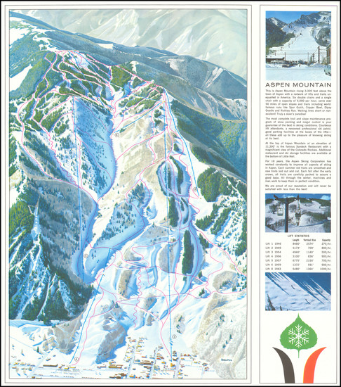 94-Colorado, Colorado and Pictorial Maps Map By Aspen Skiing Corporation / Hal Shelton