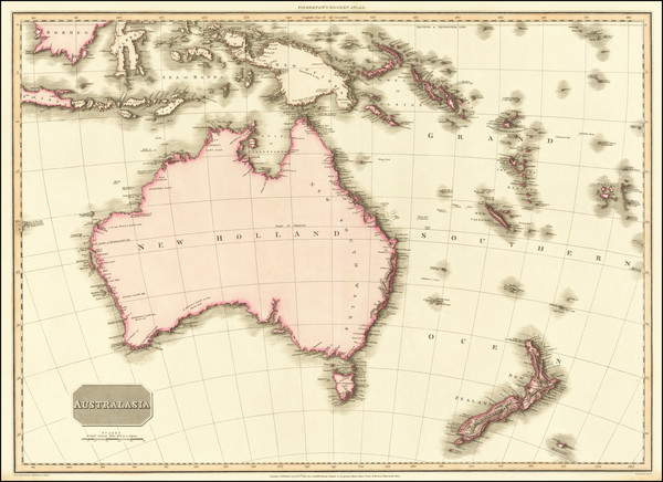 5-Australia and New Zealand Map By John Pinkerton