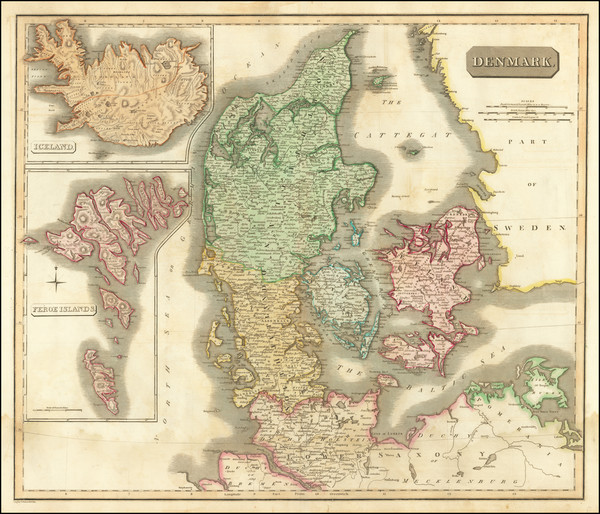 88-Iceland and Denmark Map By John Thomson