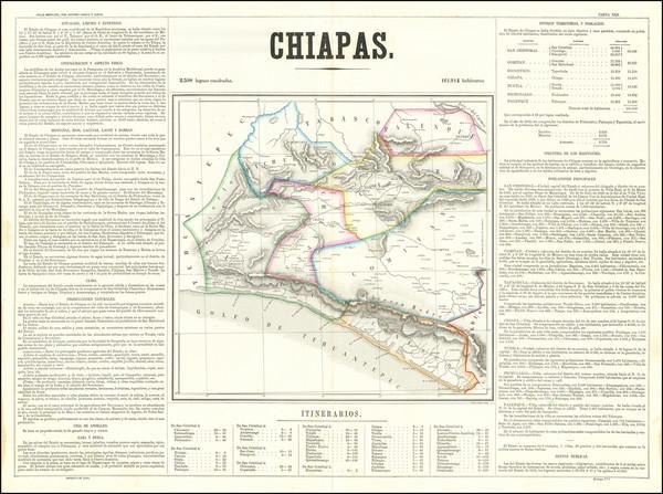 91-Mexico Map By Antonio Garcia y Cubas
