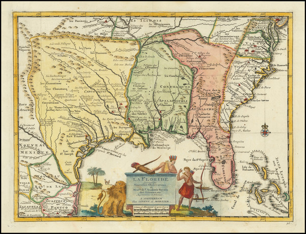 78-Florida, South, Southeast and Texas Map By Pieter van der Aa