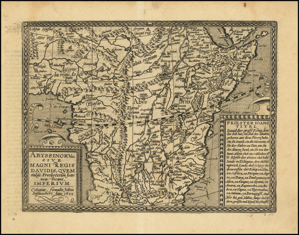92-Africa and East Africa Map By Matthias Quad / Johann Bussemachaer