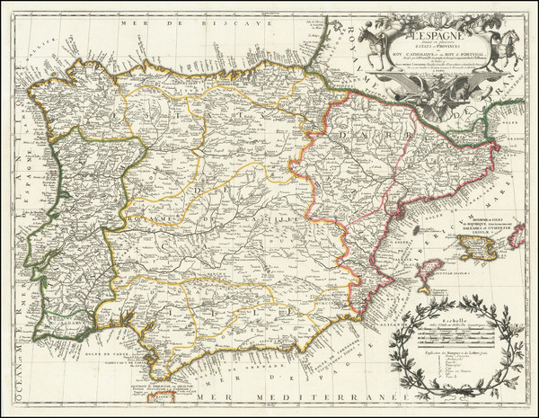 43-Spain and Portugal Map By Jean-Baptiste Nolin
