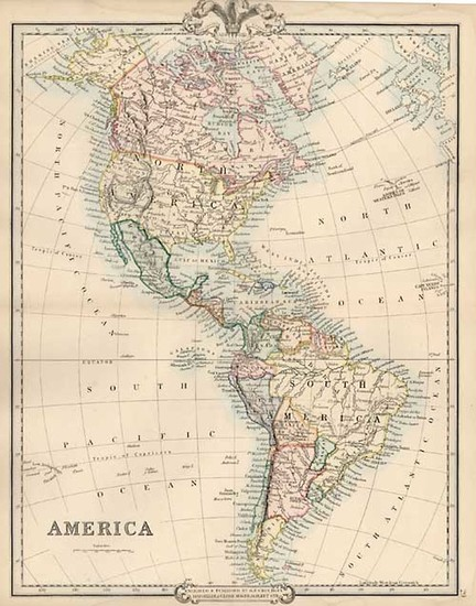 95-South America and America Map By G.F. Cruchley