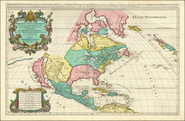 24-North America and California Map By Alexis-Hubert Jaillot / Pierre Mortier